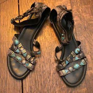 Nicole snakeskin sandals